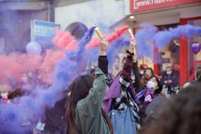 Les manifestants ont cheminé de la gare vers la place d'Armes. ((Photo: Romain Gamba / Maison Moderne))