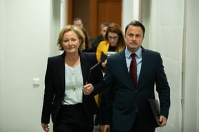 Le 12 mars 2020 marque la première conférence de presse conjointe de la nouvelle ministre de la Santé, Paulette Lenert, et du Premier ministre, Xavier Bettel, sur la gestion sanitaire de la crise. ((Photo: Romain Gamba / Maison Moderne))