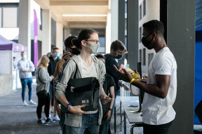 Début septembre, la rentrée à l'Uni était évidemment particulière. Un millier d'étudiants ont découvert le campus de Belval le 11 septembre lors d'un Welcome Day ajusté aux mesures sanitaires. ((Matic Zorman / Maison Moderne))