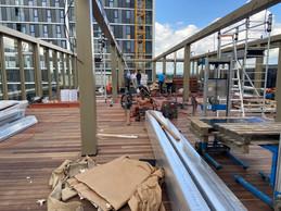 Le rooftop du Mama Shelter est en cours d'achèvement. ((Photo: Batipart))