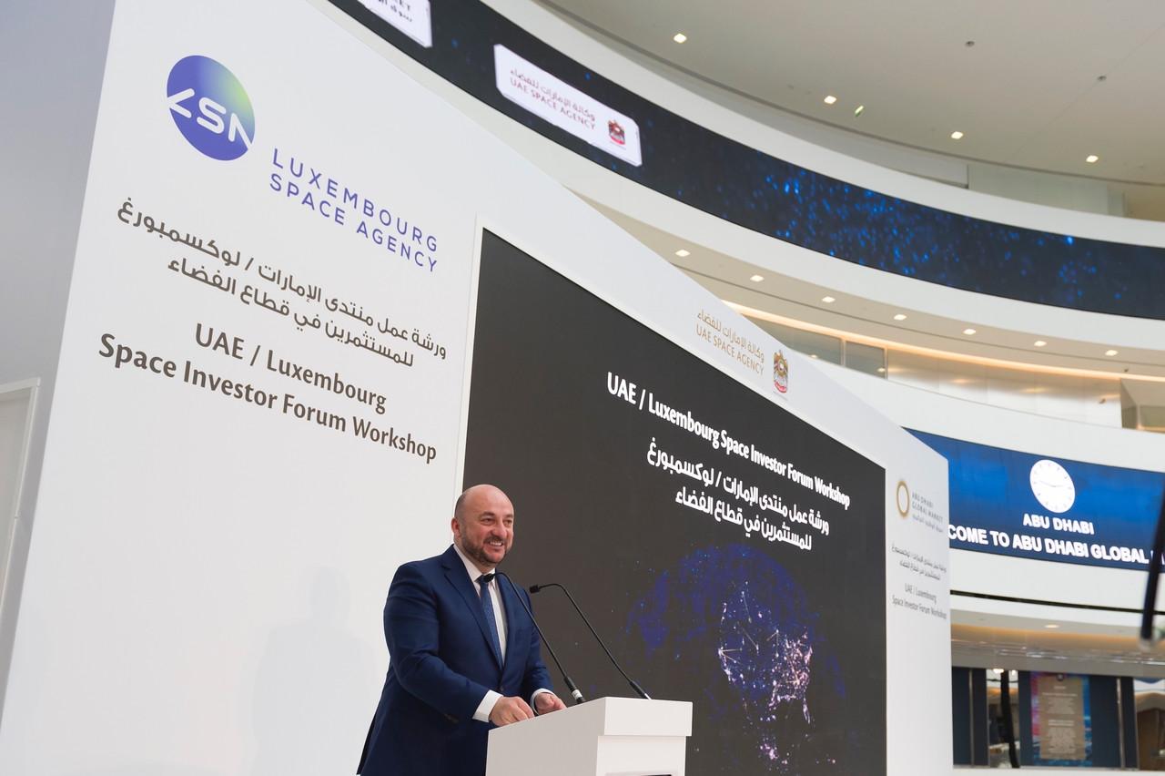 L'Agence spatiale des Émirats arabes unis est aussi partie prenante au capital de NewSpace Capital, tout comme le Luxembourg, a confirmé ÉtienneSchneider, alors encore ministre de l'Économie. (Photo:SIP / Jean-Christophe Verhaegen)