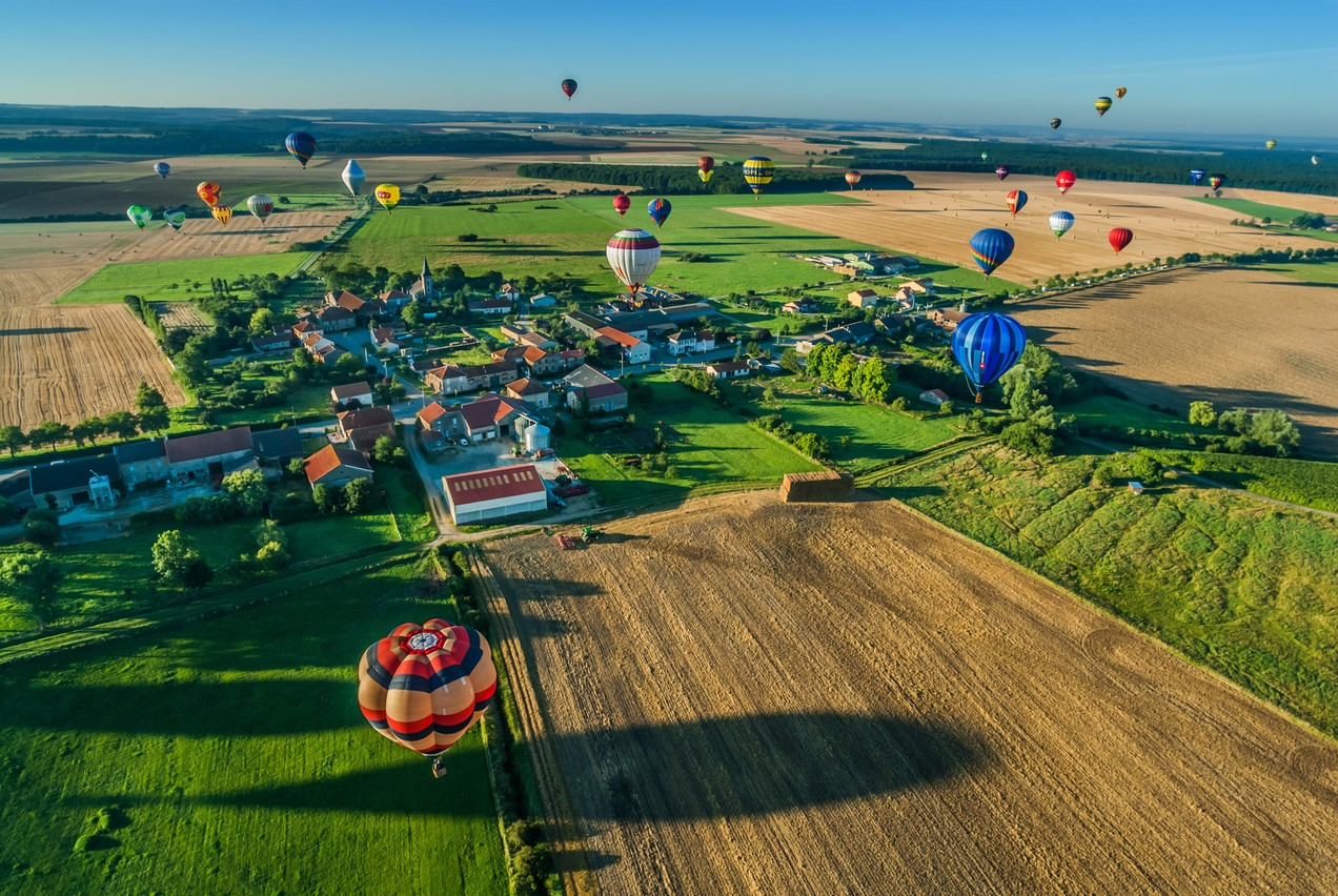Grand Est Mondial Air Ballons takes place just a short drive from Luxembourg Franck Camhi/Shutterstock.