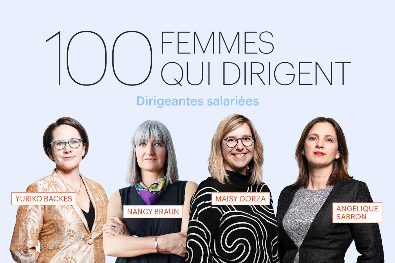 Yuriko Backes, Nancy Braun, Maisy Gorza ou Angélique Sabron, quelques-unes des 100 femmes qui dirigent au Luxembourg, présentées dans le Paperjam de mars. (Illustration: Maison Moderne)