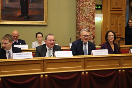 «Des investissements massifs, aussi bien de la part du secteur public que du secteur privé», seront nécessaires pour la mise en œuvre du pacte vert de l'UE, assurait lundi 2 mars2020 le commissaire européen NicolasSchmit devant les députés. (Photo: Chambre des députés)