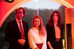 Luis Galveias (LPEA), Natalia Koltunovskaya (LPEA) et RajaaMekouar-Schneider (CEO de la LPEA) ((Photo: Romain Gamba/Maison Moderne))
