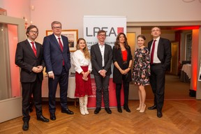 Luis Galveias (LPEA), Claus Mansfeldt (LPEA), Natalia Koltunovskaya (LPEA), RajaaMekouar-Schneider (CEO de la LPEA), Michaela Viskupicova (LPEA) et Stephane Pesch (LPEA) ((Photo: Romain Gamba/Maison Moderne))
