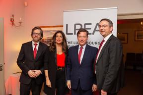 Luis Galveias (LPEA), RajaaMekouar-Schneider (CEO de la LPEA), Nicolas Mackel (Luxembourg for Finance) et Stephane Pesch (LPEA) ((Photo: Romain Gamba/Maison Moderne))