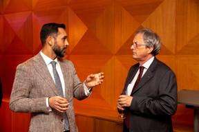 À gauche, Nasir Zubairi (Lhoft) ((Photo: Romain Gamba/Maison Moderne))