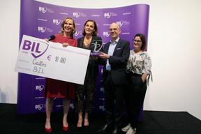 Karin Scholtes (Bil), Stéphanie Jauquet (Cocottes), Luc Frieden (président du conseil d'administration de la Bil) et Karine Vallière (Jumpbox). ((Photo: Matic Zorman))
