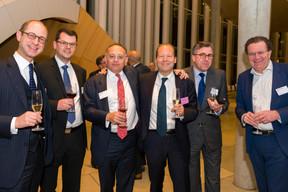 Jan Könighaus (Avega), Michael Wildscheck(JP Morgan Bank Luxembourg), Jervis Smith (Vistra), Hermann Beythan (Linklaters Luxembourg), Alain Demarolle (BNP Paribas) et Jean-Yves Hémery (Wendel) ((Photo: Emmanuel Claude/Focalize))