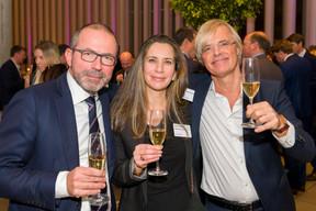 Gerard Fabry (Bank Julius Baer Europe), Florence Verlaine (La Mondiale Europartner) et Jacques Bughin ((Photo: Emmanuel Claude/Focalize))