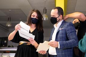 Julie Lhardit (Paperjam Club) et José Soares (SnT) ((Photo: Simon Verjus / Maison Moderne))