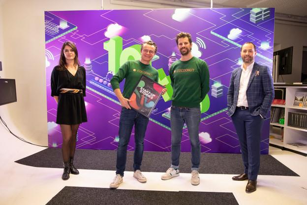 Julie Lhardit (Paperjam Club), Aurélien Dobbels, Nicolas Legay (Cocoonut) et José Soares (SnT) (Photo: Simon Verjus / Maison Moderne)