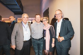 Norbert Friob, Jean-Michel Gaudron (Luxinnovation), Anne-Claire Delval (Deep.lu) et Paul Irthum (Banque Degroof Petercam Luxembourg) ((Photo: Patricia Pitsch/Maison Moderne))