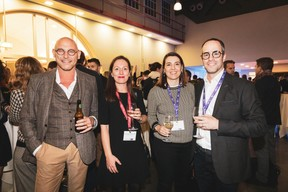 Vincent Bechet (Inowai), Emmanuelle Thivollard (Maison Moderne), Rita Luz (Bil) et Guy Benzeno (Center Stage) ((Photo: Patricia Pitsch/Maison Moderne))