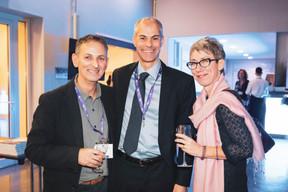 Salvatore Genovese (Genoways), Michel Vanderhoeght (SSTL)  et Anne-Claire Delval (Deep.lu) ((Photo: Patricia Pitsch/Maison Moderne))