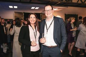 Alexa Ballmann (Institut de beauté Alexa Ballmann) et Jérôme Wiwinius (Lalux) ((Photo: Patricia Pitsch / Maison Moderne))
