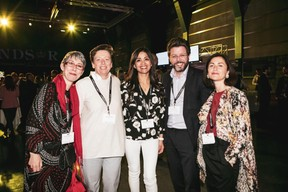 Anne-Claire Delval (DEEP.lu), Gaetane Meilleur (AIBM), Norma Bello Cortes (JES'tudio), Nicolas Henckes (CLC) et Geneviève Chabot (PAMI) ((Photo: Patricia Pitsch / Maison Moderne))