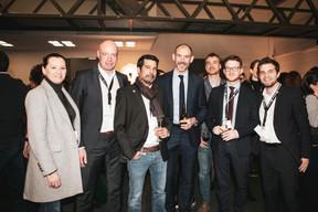 Claude Cicci (Bilia-Emond), Philippe Dondelinger (Bilia-Emond), Pierre Millard (Bilia-Emond) et Olivier François (Bilia-Emond) ((Photo: Patricia Pitsch / Maison Moderne))