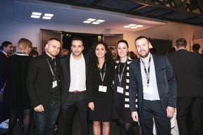 Fabrice Bianco (BNP PARIBAS), Merouane Hamidi, Eleonora Brigitte Capobianchi et Christophe Gaire (J.P. Morgan Bank Luxembourg) ((Photo: Patricia Pitsch / Maison Moderne))
