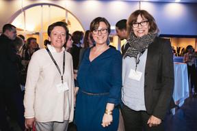Gaetane Meilleur (AIBM), Géraldine Clarisse (IN Design) et Chantal Renson (Bene) ((Photo: Patricia Pitsch / Maison Moderne))