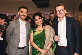 Richard Karacian (Maison Moderne), Runa Khan (Friendship) et Philippe Depoorter (Banque de Luxembourg) ((Photo: Patricia Pitsch / Maison Moderne))