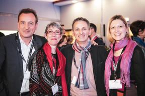 Pascal Dorban (Talk Finance), Anne-Claire Delval (DEEP.lu), Salvatore Genovese (Genoways) et Lene Pedersen (LeneLife) ((Photo: Patricia Pitsch / Maison Moderne))