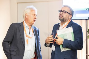 Claude Nesser (BeToCee) et Mike Koedinger (Maison Moderne) ((Photo: Jan Hanrion / Maison Moderne))