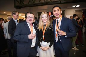 Eric Dejon, Elena Cravtov et Namkhai Narankhuu ((Photo: Jan Hanrion / Maison Moderne))