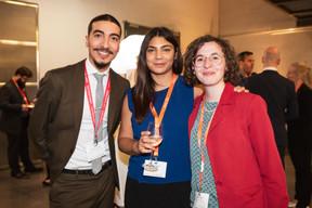 Houssine Yousfi (Maison Moderne), Sevinç Öscan et Manon Berto (Wavestone) ((Photo: Jan Hanrion / Maison Moderne))