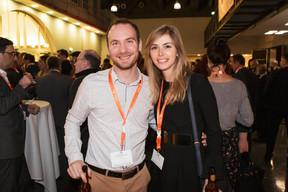 Julien Bertucci (SNHBM) et Céline Lellig (Aviva Investors) ((Photo: Jan Hanrion / Maison Moderne))