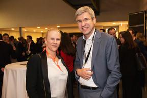 Martine Kerschenmeyer (Korn Ferry) et David Suetens (State Street) ((Photo: Jan Hanrion / Maison Moderne))