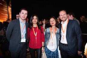 Mathias Guittet (Bureau Center), Norma Bello Cortes (Jes'tudio), Geneviève Chabot (Pami), Stéphane Compain (LuxRelo) ((Photo: Jan Hanrion / Maison Moderne))