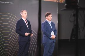 Jim Kent (Paperjam + Delano Club) et Nicolas Mackel (Luxembourg for Finance) ((Photo: Simon Verjus/Maison Moderne))