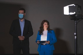 Julien Dickeli (Paperjam + Delano Club) et Cristina Ferreira (State Street Bank) ((Photo: Simon Verjus/Maison Moderne))