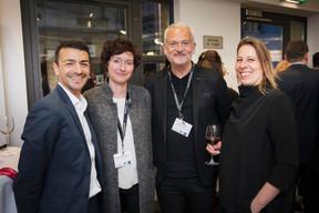 Richard Karacian (Maison Moderne), Claudia Eustergerling et Sylvain Kirsch (Claudia Eustergerling Design) et Anabel Witry (Witry & Witry) ((Photo: Jan Hanrion / Maison Moderne))