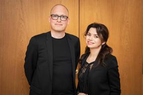 Yannick Lang et Tatiana Lang (Banana Republic Office) ((Photo: Jan Hanrion / Maison Moderne))