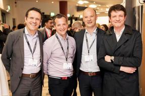 Yves Lahaye et Nicolas Dufour (RBC), Fabrice Ciach et Louus Dupont (Générale Immobilière) ((Photo: Jan Hanrion / Maison Moderne))