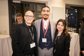 Yannick Lang (Banana Republic Office), Houssine Yousfi (Maison Moderne) et Tatiana Lang (Banana Republic Office) ((Photo: Jan Hanrion / Maison Moderne))