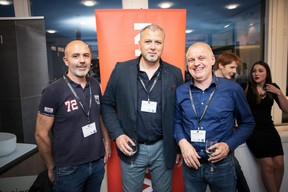 Marco Ramos (Coeba), Pietro Marchione (Groupe Marchione) et Joseph Bollendorff (SGI Ingénierie) ((Photo: Jan Hanrion / Maison Moderne))
