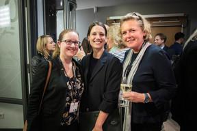 Elise Percerou (CBRE) à gauche et Patricia Delcourt (CBRE) à droite ((Photo: Jan Hanrion / Maison Moderne))