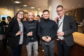 Héloïse Collin, Stéphane Di Carlo (EGB Hornung & Associés), Jonathan Pesa et Olivier André (EGB Interior Design) ((Photo: Jan Hanrion / Maison Moderne))