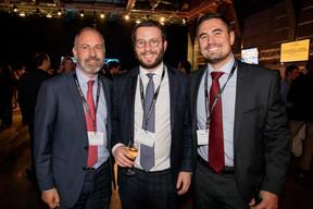 Fabien Vrignon et Aurélien Jacques (Keytrade Bank Luxembourg) et Matthieu Boachon (Banque de Luxembourg Investments) ((Photo: Jan Hanrion/Maison Moderne))