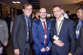 François Masquelier (RTL Group), Paul Lécaille et Pierre-Yves Lanneau Saint-Léger (Vital Briefing) ((Photo: Jan Hanrion/Maison Moderne))