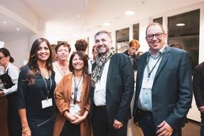 Norma Cortes (JES'tudio), Gaetane Meilleur (AIBM), Geneviève Chabot (Pami), Eric Plasson, Sébastien Mafrica (RiseSmart) ((Photo: Patricia Pitsch/Maison Moderne))