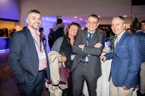 Eric Plasson (Randstad HR Services), Genevieve Loeillet (A2Zimmo), Vincent Loeillet (BGL NBP Paribas), Christophe Loeillet (Université de Luxembourg) ((Photo: Jan Hanrion / Maison Moderne))
