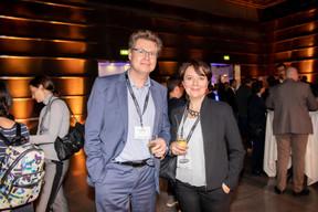 Axel Pierard (Kozalys) et Valérie Hustadt (Netlux) ((Photo: Jan Hanrion / Maison Moderne))