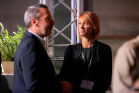 Matthieu Croissandeau (Maison Moderne) et Melanie Delannoy (GovSat) ((Photo: Jan Hanrion / Maison Moderne))