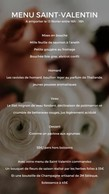 Le menu de Saint-Valentin 2021 de l'Hostellerie du Grünewald. ((Photo: DR))