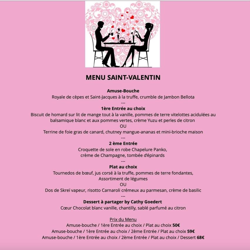 Le menu de Saint-Valentin 2021 du Fin Gourmand. (Photo: DR)